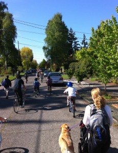 Neighborhood Greenways make it safe and easy for everyone to get around the city