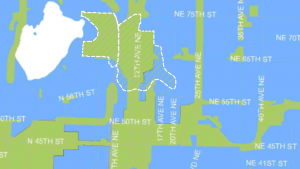 The green in this map show where the City proposes zoning changes to 16% of Seattle. See more at http://murray.seattle.gov/housing/#sthash.GrgHZxBa.dpbs
